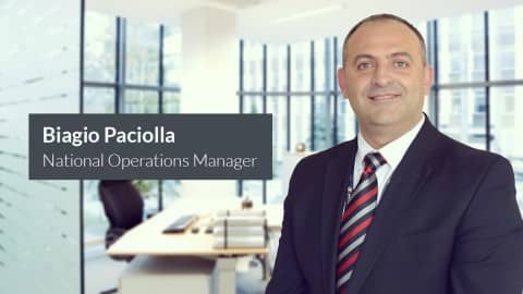 Biagio Paciolla Appointed as National Operations Manager