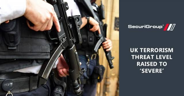 UK Terrorism Threat Level Raised to 'Severe'
